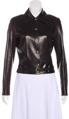 Celine Leather Collared Jacket