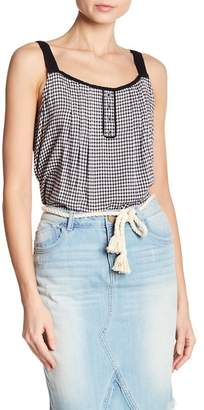 Democracy Check Pintuck Pleat Tank Top