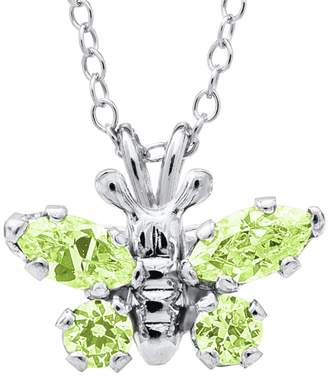 Mignonette Butterfly Birthstone Sterling Silver Pendant Necklace