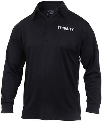Rothco Moisture Wicking Long Sleeve Security Polo - , 2X-Large