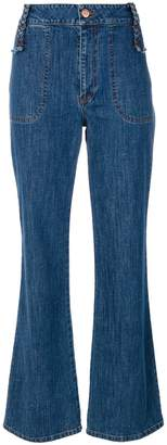 See by Chloe retro flare cropped jeans