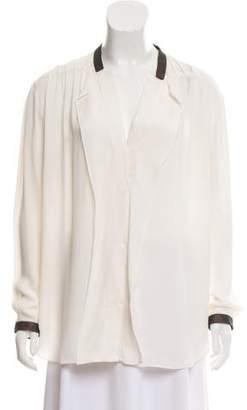 Maiyet Long Sleeve Silk Blouse