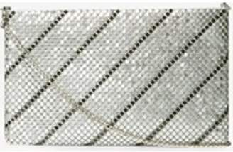 Dorothy Perkins Womens Silver and Pewter Chainmail Clutch