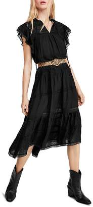 Free People Midnight Lace-Trim Midi Dress