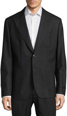 Dolce & Gabbana Men's Regular Fit Peak Lapel Virgin Wool Sportcoat