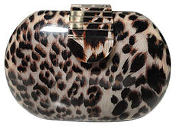 Kardashian Kollection Resin Clutch Leopard