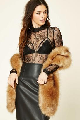 FOREVER 21+ Faux Fur Stole $17.90 thestylecure.com