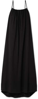 The Row Dresia Cotton-jersey Maxi Dress - Black
