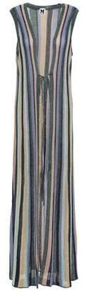 M Missoni Striped Metallic Crochet-knit Cardigan