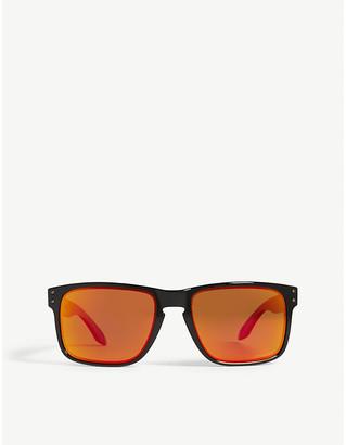 Oakley Mens Black Modern Holbrook O-Matter Polarised Square-Frame Sunglasses