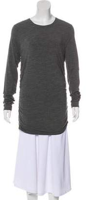 Michael Kors Wool Ruche-Accented Top