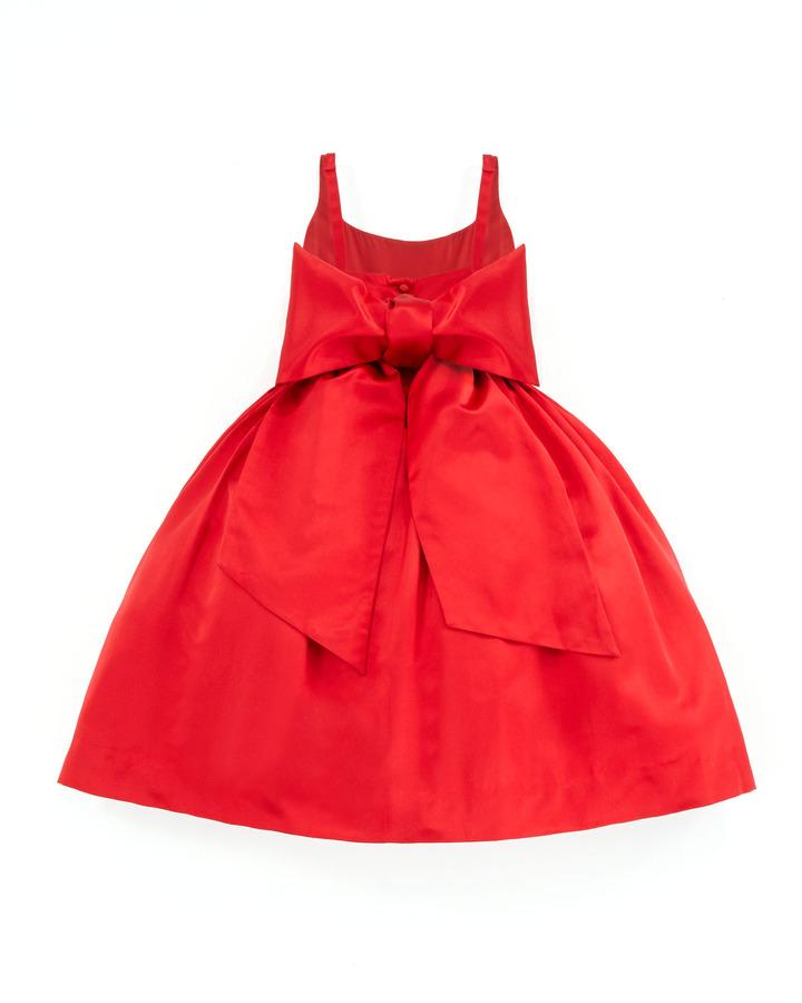 Ralph Lauren Satin Party Dress, Red, Sizes 4-6X