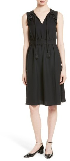 Kate Spade Women's Kate Spade New York Ruffle Crepe Fit & Flare Dress