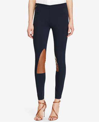 Polo Ralph Lauren Leather-Patch Leggings