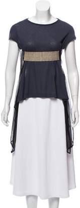 Hache Asymmetrical Short Sleeve Top w/ Tags