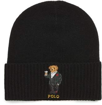 Polo Ralph Lauren Tartan Martini Bear Wool & Cashmere Beanie