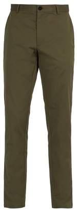 Burberry Slim Leg Cotton Chino Trousers - Mens - Green