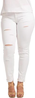 Standards & Practices Destroyed Stretch Skinny Boyfriend Jeans