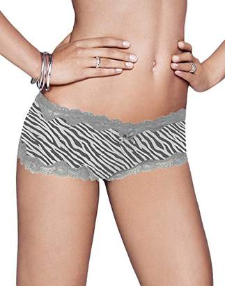 Maidenform Women's Microfiber Scallop Lace Cheeky Hipster Panty