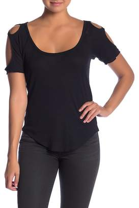 Chaser Ribbed Cold Shoulder Top