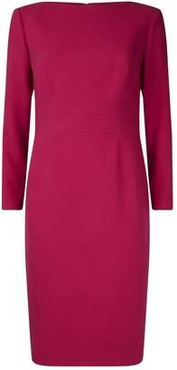 Lela Rose Seamed Midi Dress