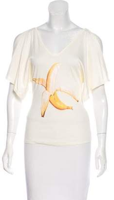 Chloé Draped Sleeve Graphic Shirt