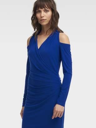 DKNY Jersey Cold Shoulder Dress