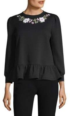 Kate Spade Embroidered Cotton Pullover
