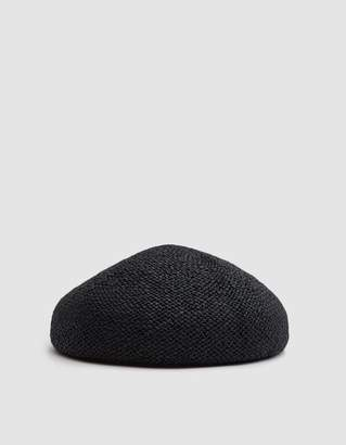CLYDE Acorn Beret in Black Toyo