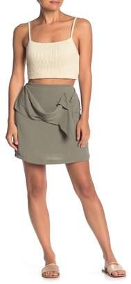 MinkPink Draped Panel Mini Skirt
