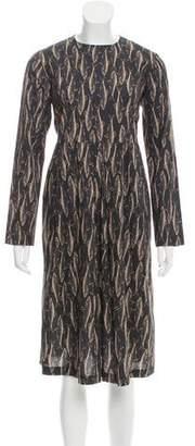 Tome Fish Print Midi Dress w/ Tags
