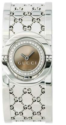 Gucci Twirl 112 Stainless Steel Diamonds 16mm Quartz Womens Watch
