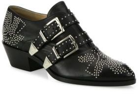 Chloe Susanna Studded Leather Loafer Booties $1,050 thestylecure.com