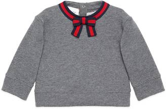 Baby sweatshirt with Web bow $195 thestylecure.com
