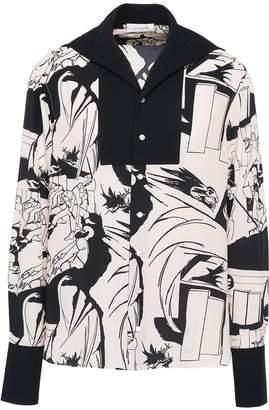 Wales Bonner Graphic print unisex silk crepe sailor shirt