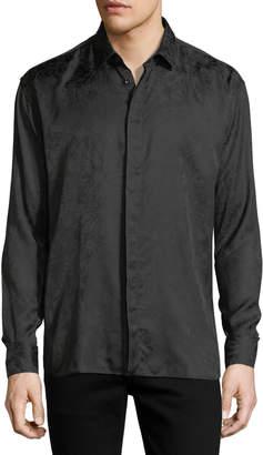 Saint Laurent Long-Sleeve Tonal Firework-Print Shirt