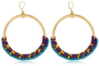 Missoni Iconic Chain Braided Hoop Earrings