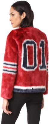 MOTHER Boxy Faux Fur Coat $375 thestylecure.com