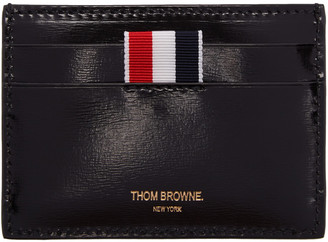 Thom Browne Black Whale Single Card Holder $325 thestylecure.com