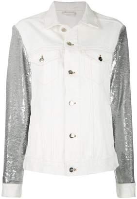 IRO sequin sleeves denim jacket