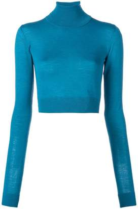 Emilio Pucci mock neck cropped knit top