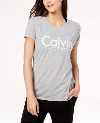 Calvin Klein Metallic-Logo T-Shirt