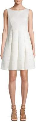 Eliza J Eyelet Fit--Flare Dress