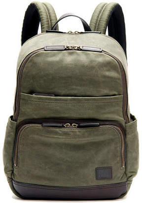 Frye Carter Leather-Trim Canvas Backpack