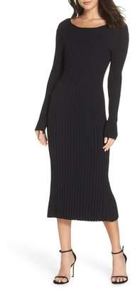 Bardot Ribbed Low Back Dress
