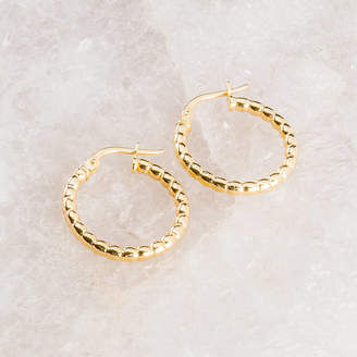0a93a12bc Loel & Co. Gold, Silver And Rose Gold Bead Hoop Earrings