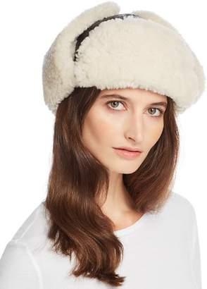 Crown Cap Shearling Aviator Hat