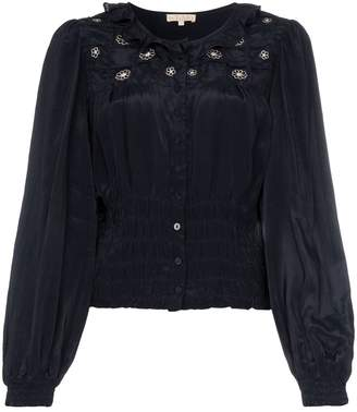 By Ti Mo byTiMo ruffled embroidered top