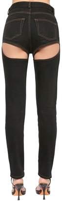 Y/Project Back Cutout Cotton Denim Jeans