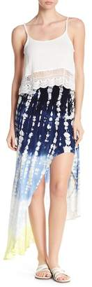 Young Fabulous & Broke YFB by Kylie Swirled Pattern Hi-Lo Skirt